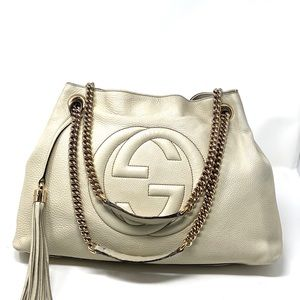 GUCCI SOHO LEATHER BAG.